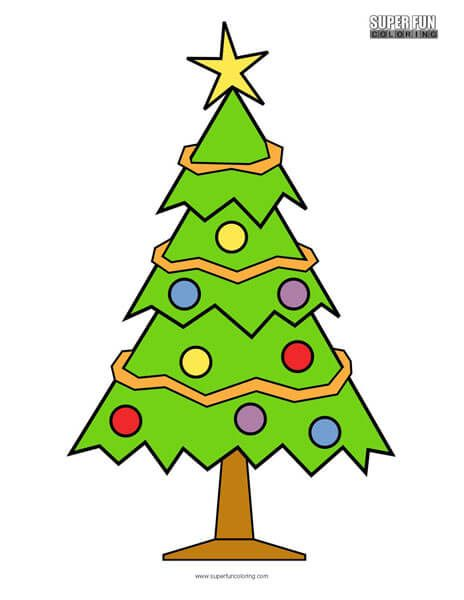 Christmas Tree Coloring Page   Tree coloring page ...