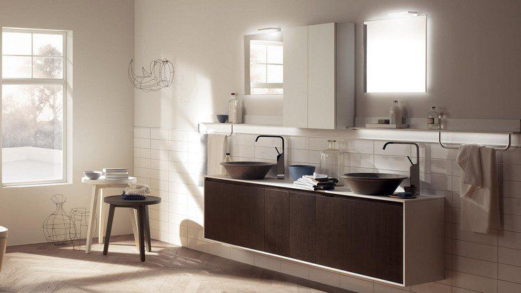 Pin by Aurélie Lagaillarde on idée déco sdb Pinterest - meuble salle de bain marron