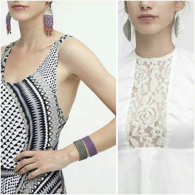 Lace details and patterns..Our choice for this summer!!!Giulia S clothing in collaboration with Eleni Athanasopoulou Handmade Jewellery #giuliashandmadeclothing#handmadeingreece#prints#patterns#lace#ethnic#handmadejewellery