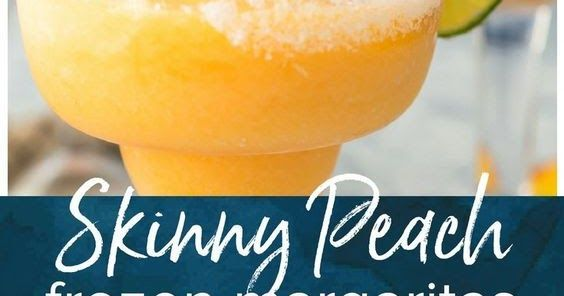 This Skinny Peach Frozen Margarita Recipe is Summer in a glass! I love the bright flavor of a delicious Peach Margarita, but lightened u... #frozenmargaritarecipes This Skinny Peach Frozen Margarita Recipe is Summer in a glass! I love the bright flavor of a delicious Peach Margarita, but lightened u... #frozenmargaritarecipes