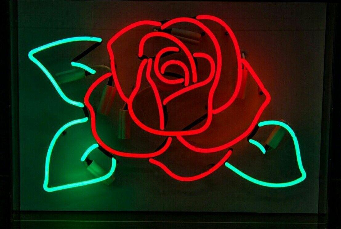 Neon Rose Neon Signs Neon Aesthetic Neon Lighting