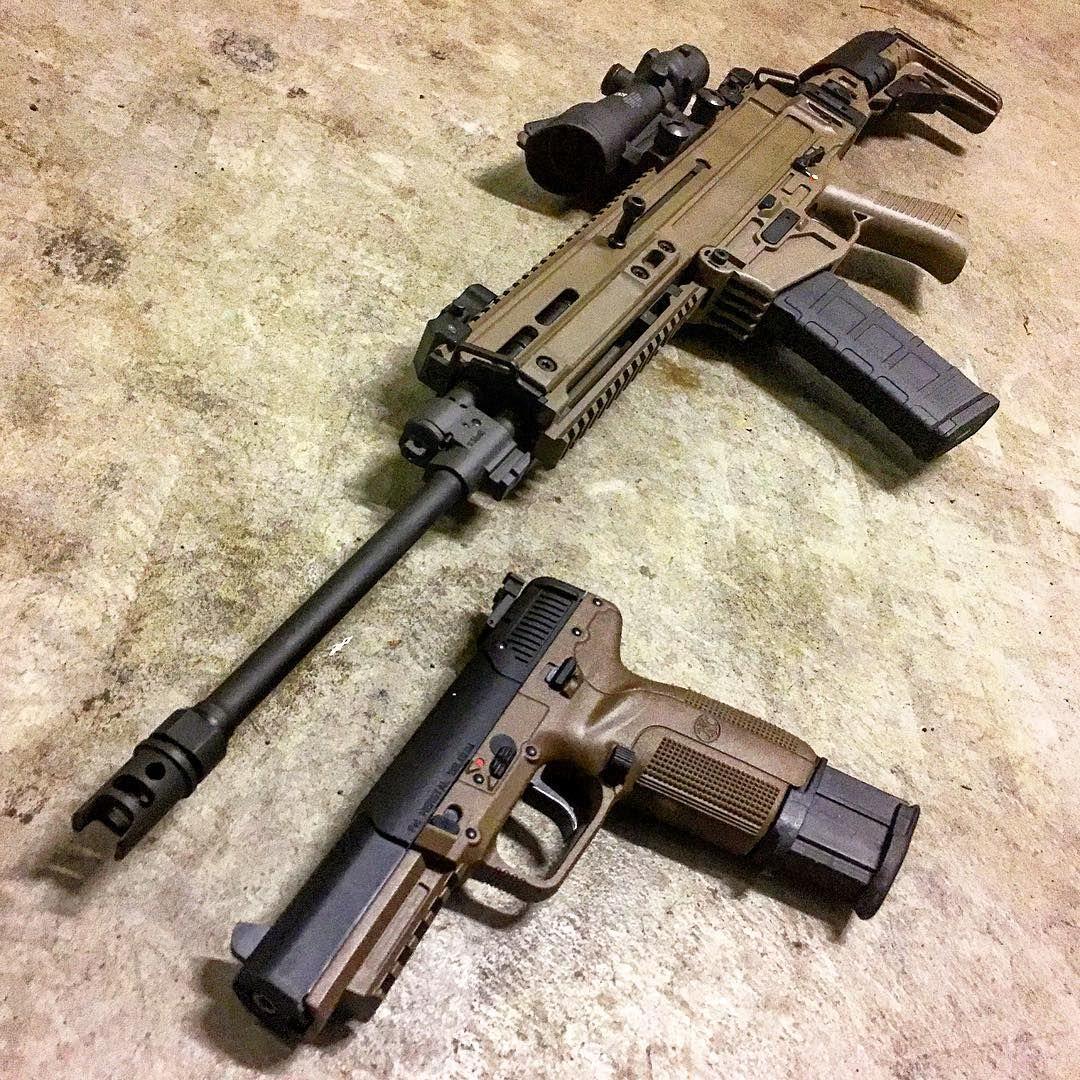 CZ 805 Bren piston 556 carbine with FN Five Seven 57x28 pistol Follow blackcatcollection cz