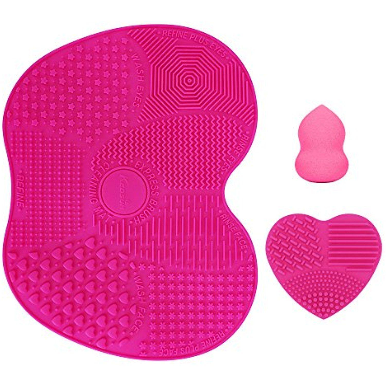 KEDSUM Silicone Makeup Brush Cleaning Mat, Makeup Brush