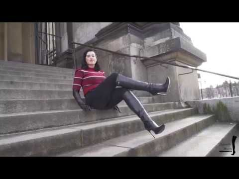 2f4f28924eb80 Preview Bettie in Highheel Boots and leather Gloves in Berlin - YouTube