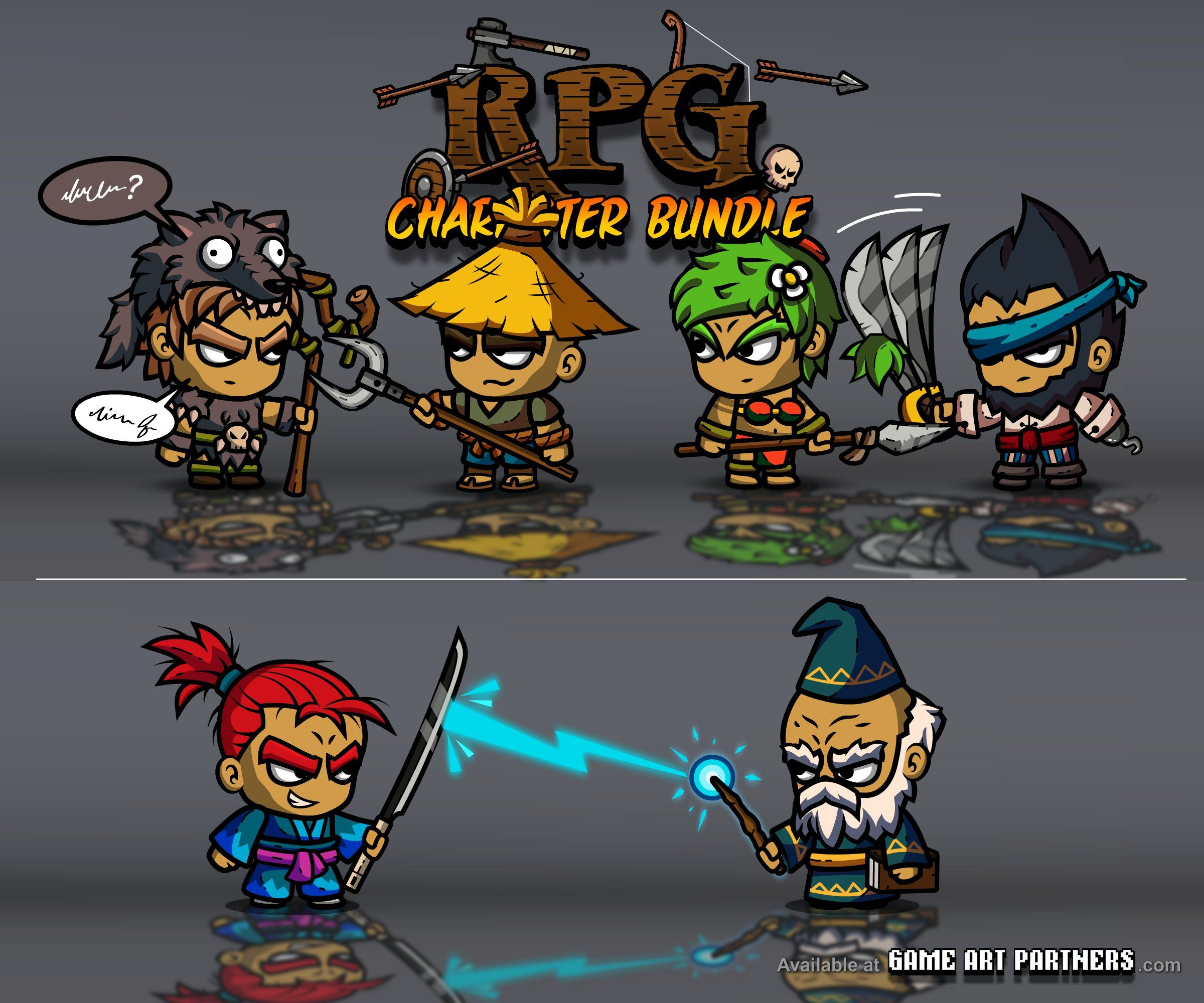 Royalty Free 2D Game /Sprites Art from… | Cartoon Characters