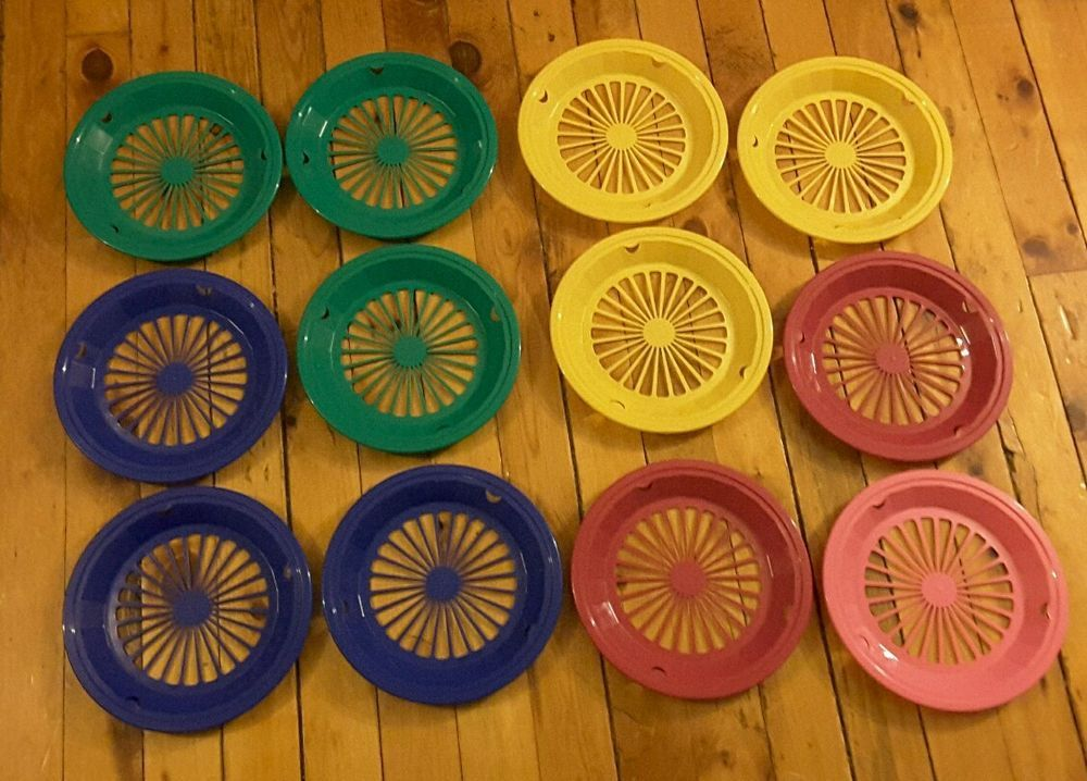 Packerware Set of 12 Plastic colored paper plate holders picnic & Packerware Set of 12 Plastic colored paper plate holders picnic ...