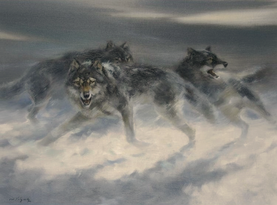 Schatz, Manfred (b,1925)- Wolves