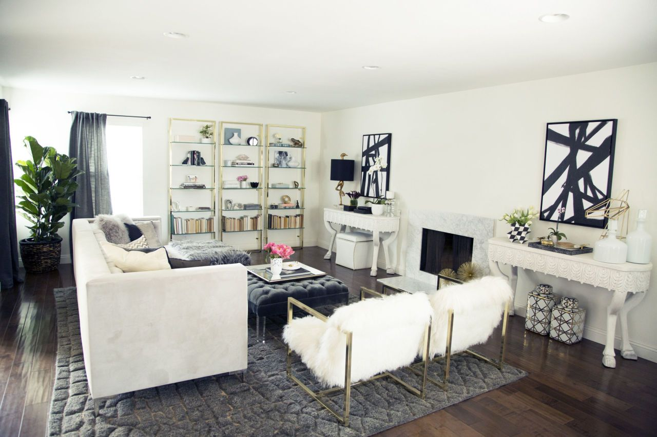 BEFORE + AFTER: A Fashion Blogger Turns Her Dark Living Room Into A ...