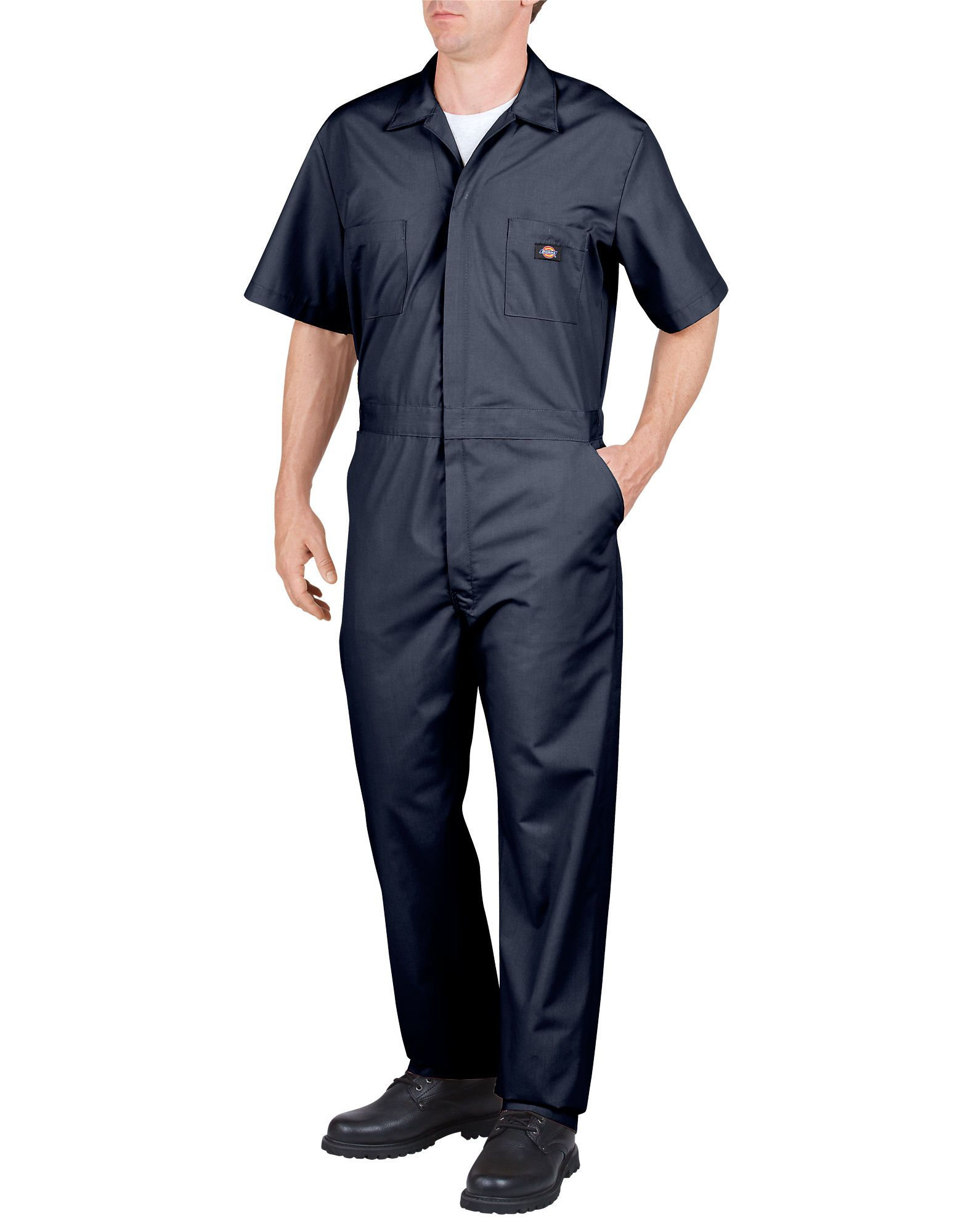 Short Sleeve Coveralls For Men Dark Navy Dickies Men Short Sleeve Dickies Coveralls Coveralls