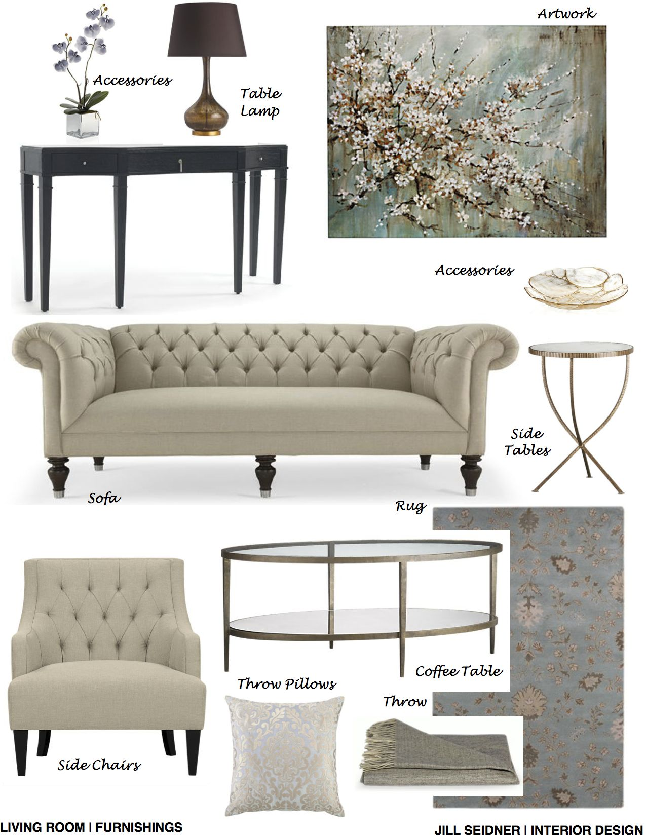 Arcadia, CA Online Design Project Living Room Furnishings Concept ...