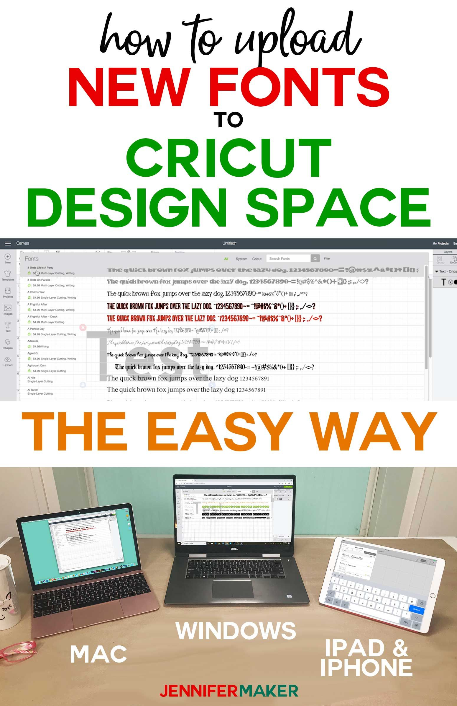 How to Upload Fonts to Cricut Design Space | Cricut Projects