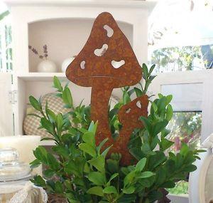 """gartendeko """"edelrost pilz"""" rost rostfigur eisen gartenstecker, Garten ideen"""