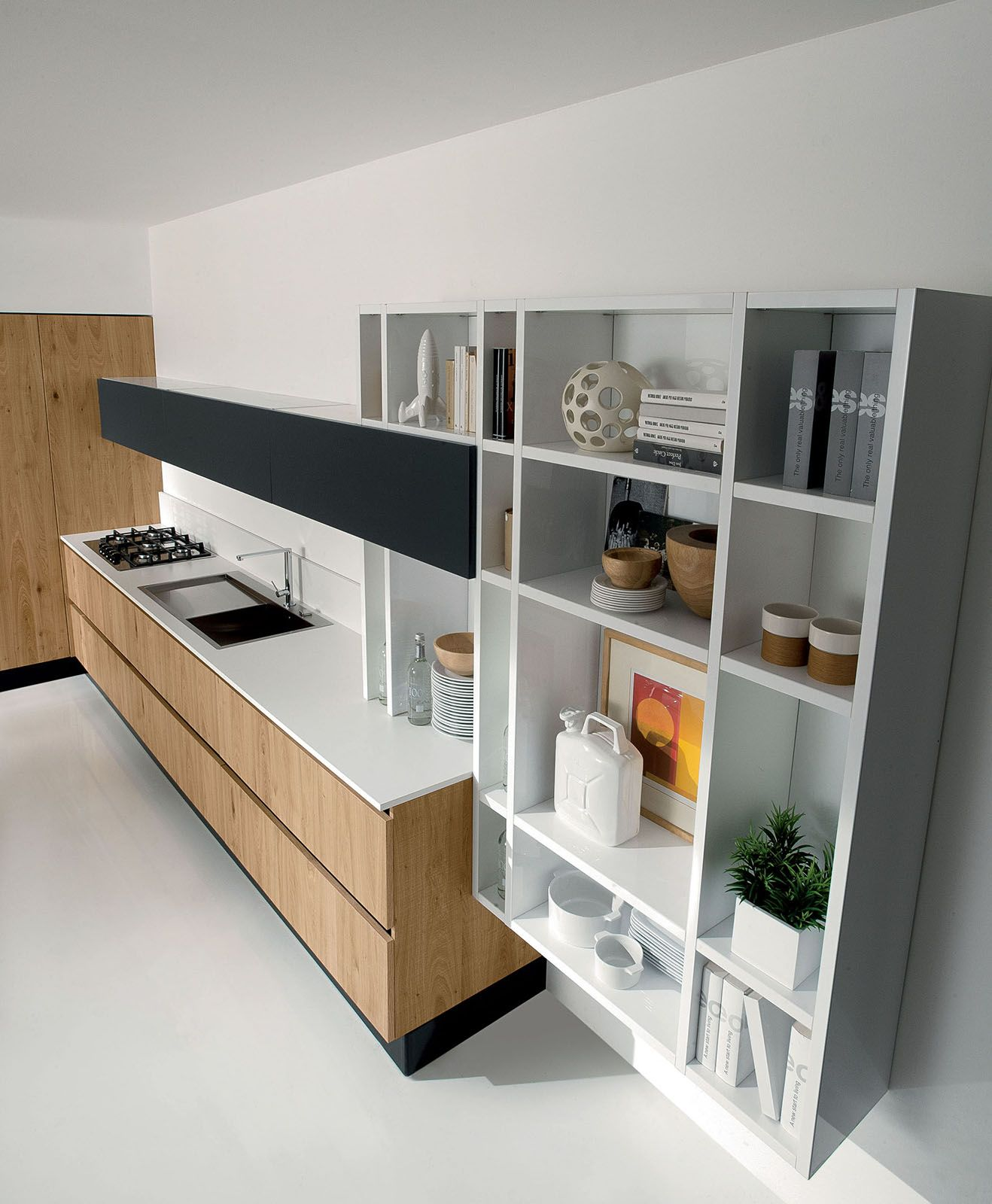 Aran-Cucine-Volare-cucina-scaffali   интерьер идеи   Pinterest ...