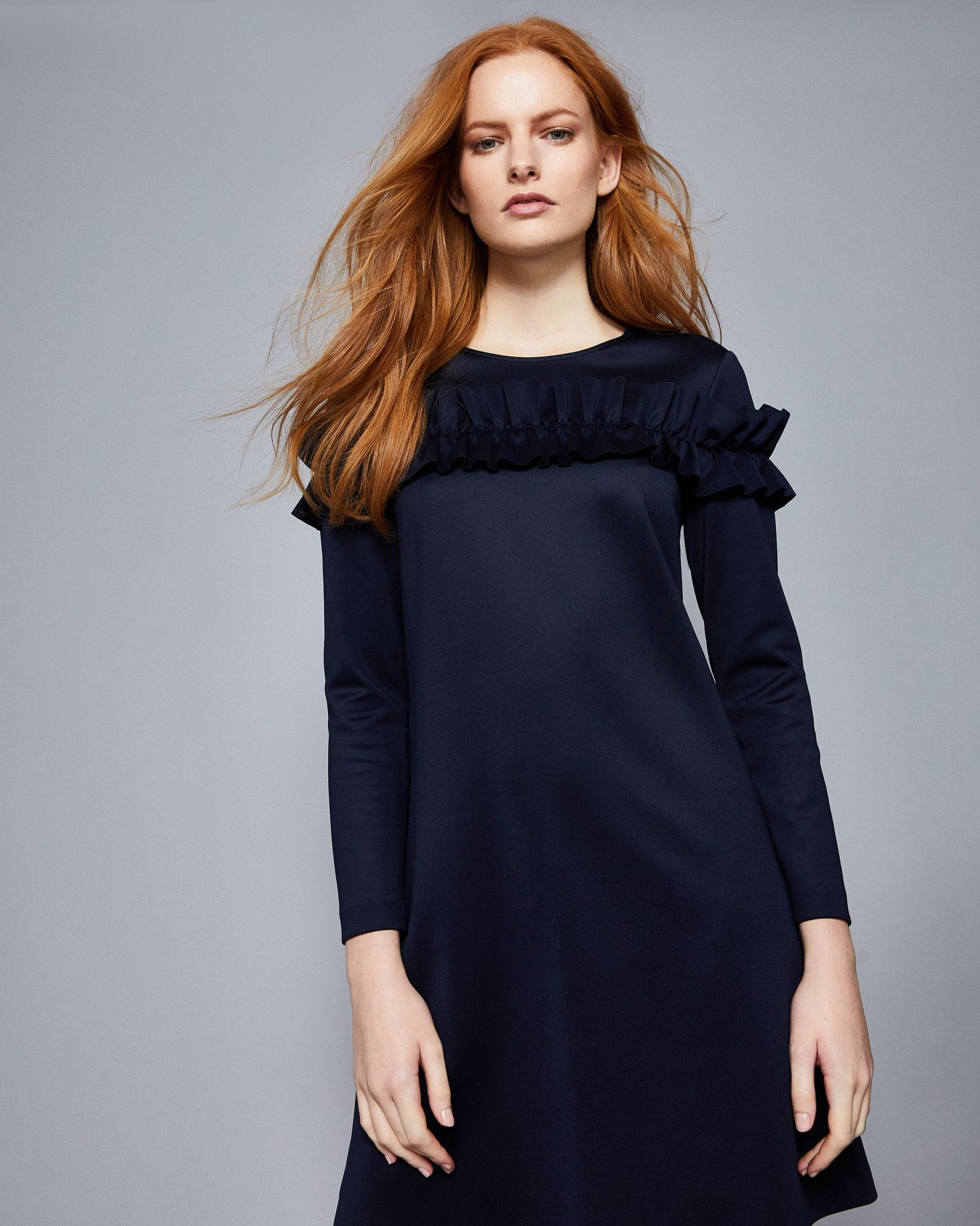 c840c25bcd1 Ted Baker Ruffle bodice tunic dress Dark Blue | Products in 2019 ...