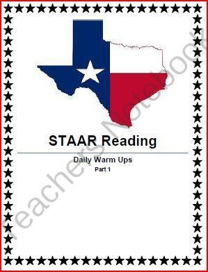 STAAR Reading Daily Warm Ups | Teacher's Notebook | Reading