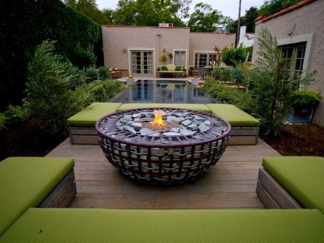 Feuerstelle, Garten, Feuerschale, rund Feuerstellen im Garten - grillstelle im garten