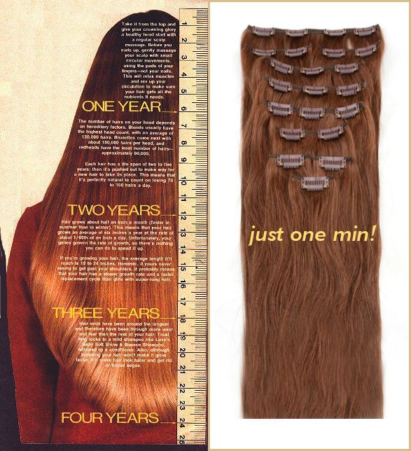 How Many Years You Need To Wait For Your Dream Length With Hair Extensions Only One Minute Take It Home Right Now