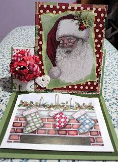 outside image -  Kris Kringle   Inside image - Three Stockings Waiting    both from Squigglefly