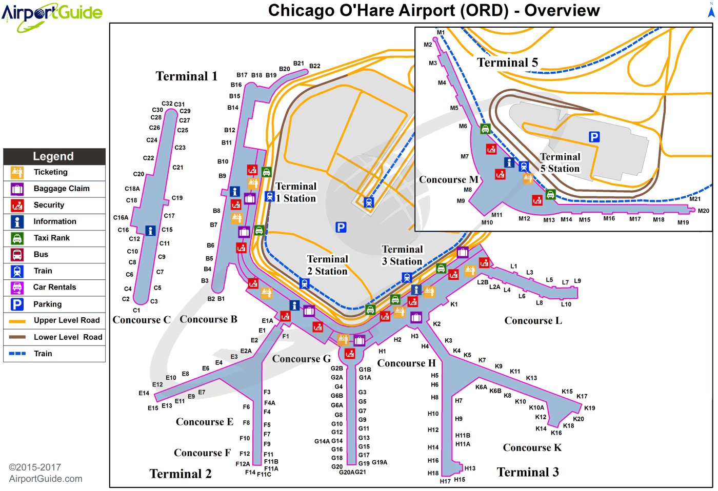 o hare airport gate map Chicago Chicago O Hare International Ord Airport Terminal Map o hare airport gate map