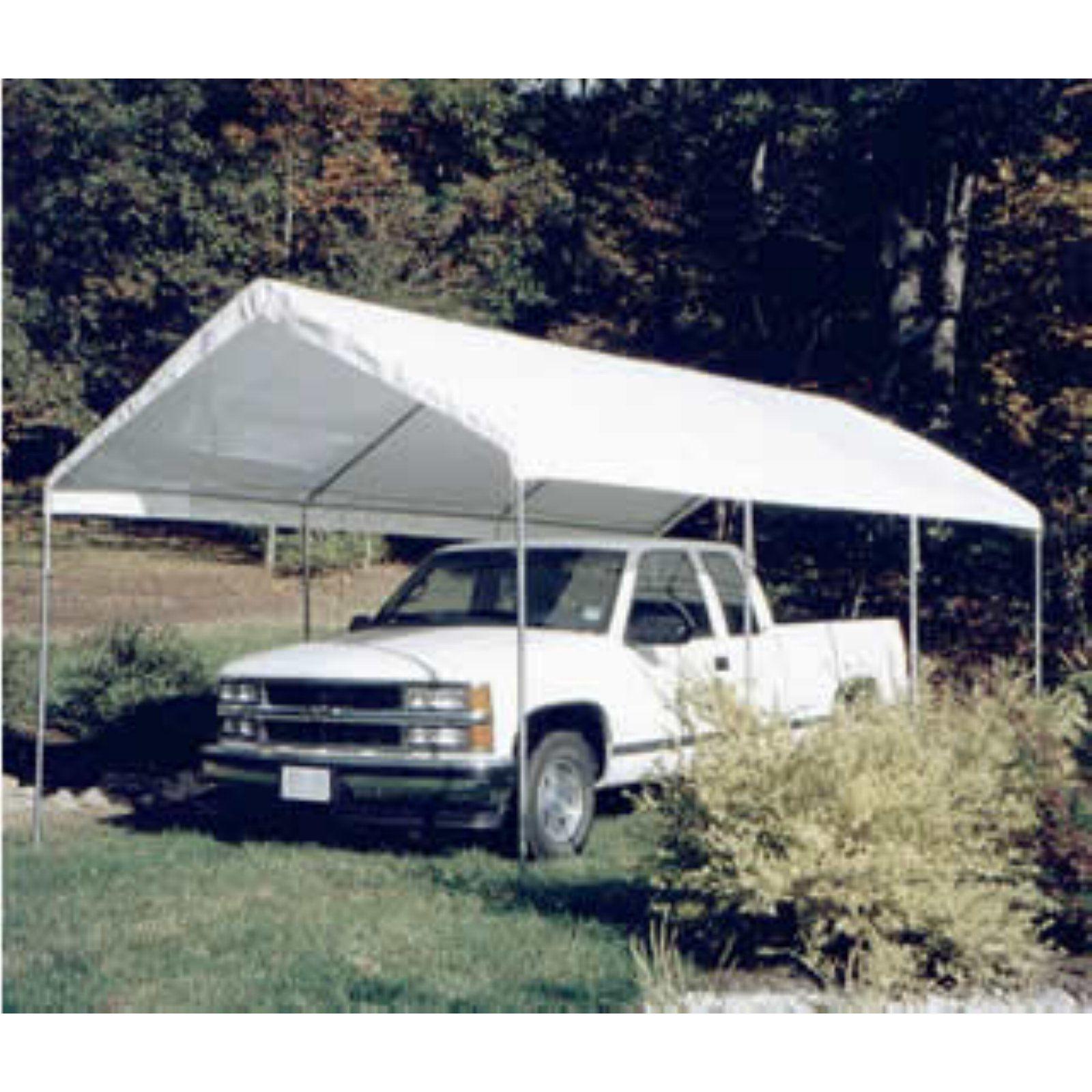 King Canopy 10 x 20 ft. Universal Canopy Carport White