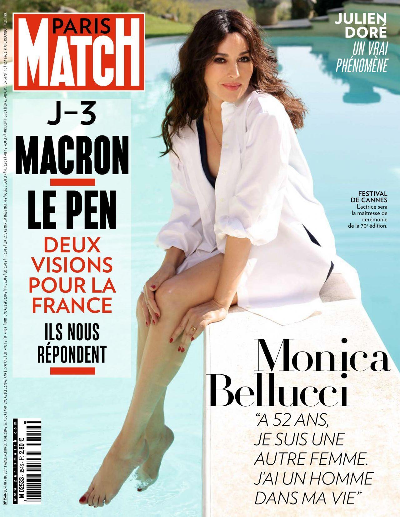 Monica bellucci paris match magazine may 2019 issue