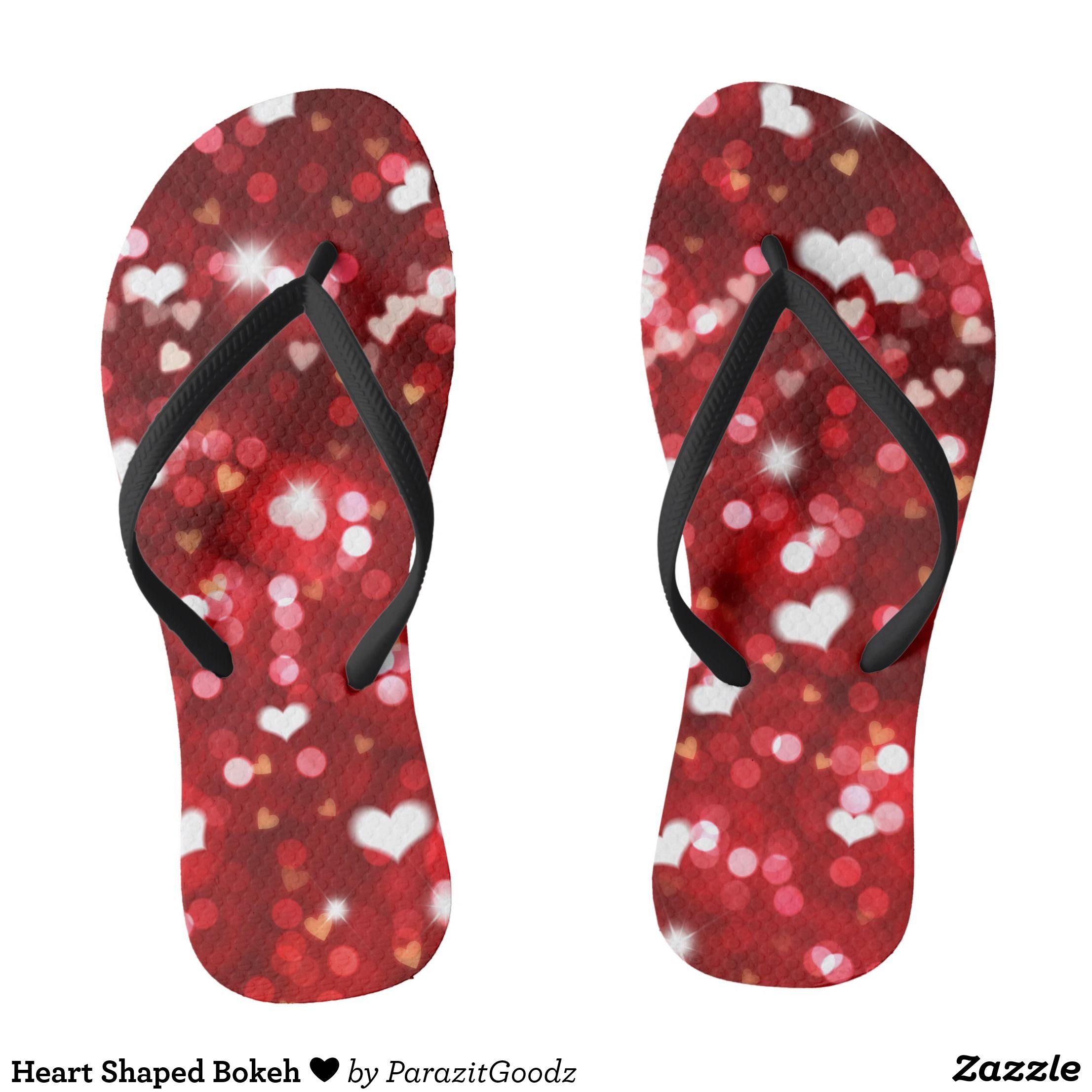 bc61a73f6620 Heart Shaped Bokeh Flip Flops - Durable Thong Style Hawaiian Beach Sandals  By Talented Fashion   Graphic Designers -  sandals  flipflops  hawaii   beach ...