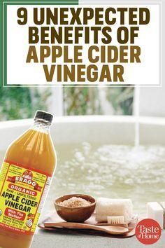 9 unexpected benefits of apple cider vinegar #applecidervinegarbenefits