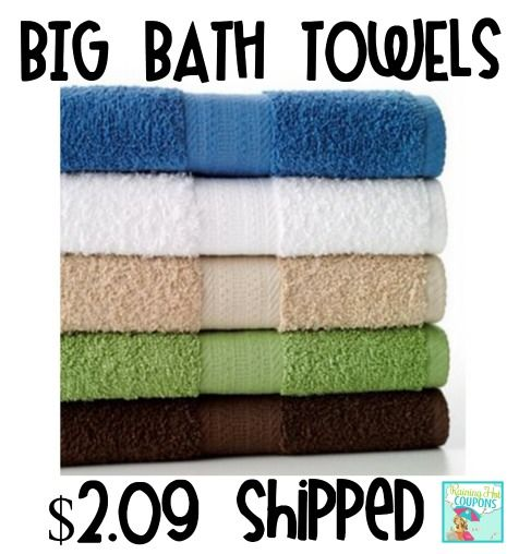 Hot The Big One Bath Towels Only 2 09 Each Shipped Towel
