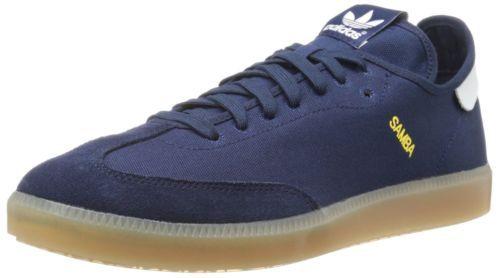 Adidas-Samba-MC-NEW-Men-SZ-7-Sneakers-Shoes-Navy-Blue-White-Gold-C77859-Fly 3d646d10c