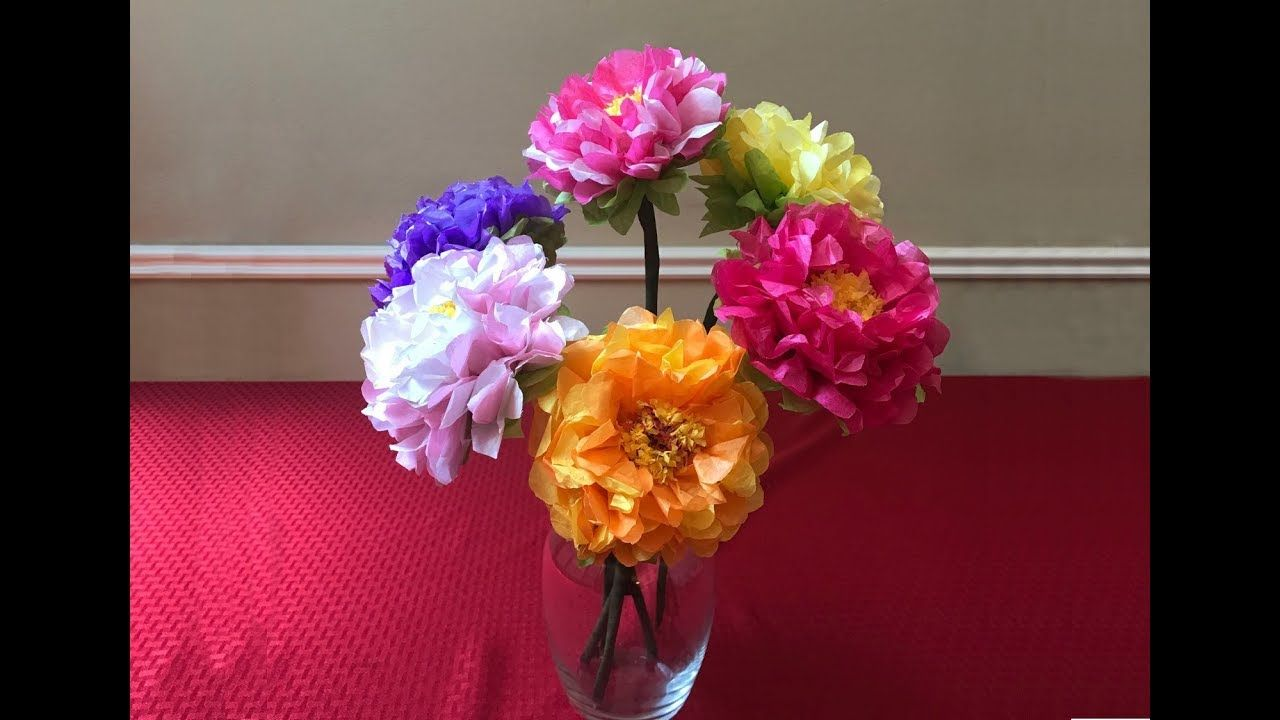 How To Make A Beautiful And Easy Tissue Paper Kite Paper Flower