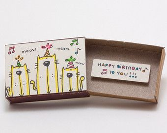 Bunny Birthday Card Matchbox Gift Box Stay Young And Be - Geburtstagskarte Cool