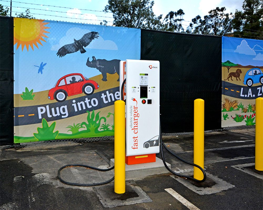Direct Current Fast Charger at the LAZoo Charger