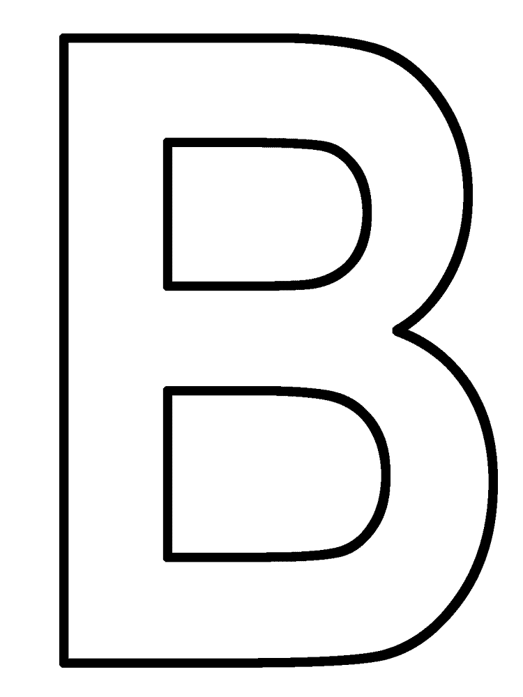 best letter b coloring pages  letter b crafts letter a