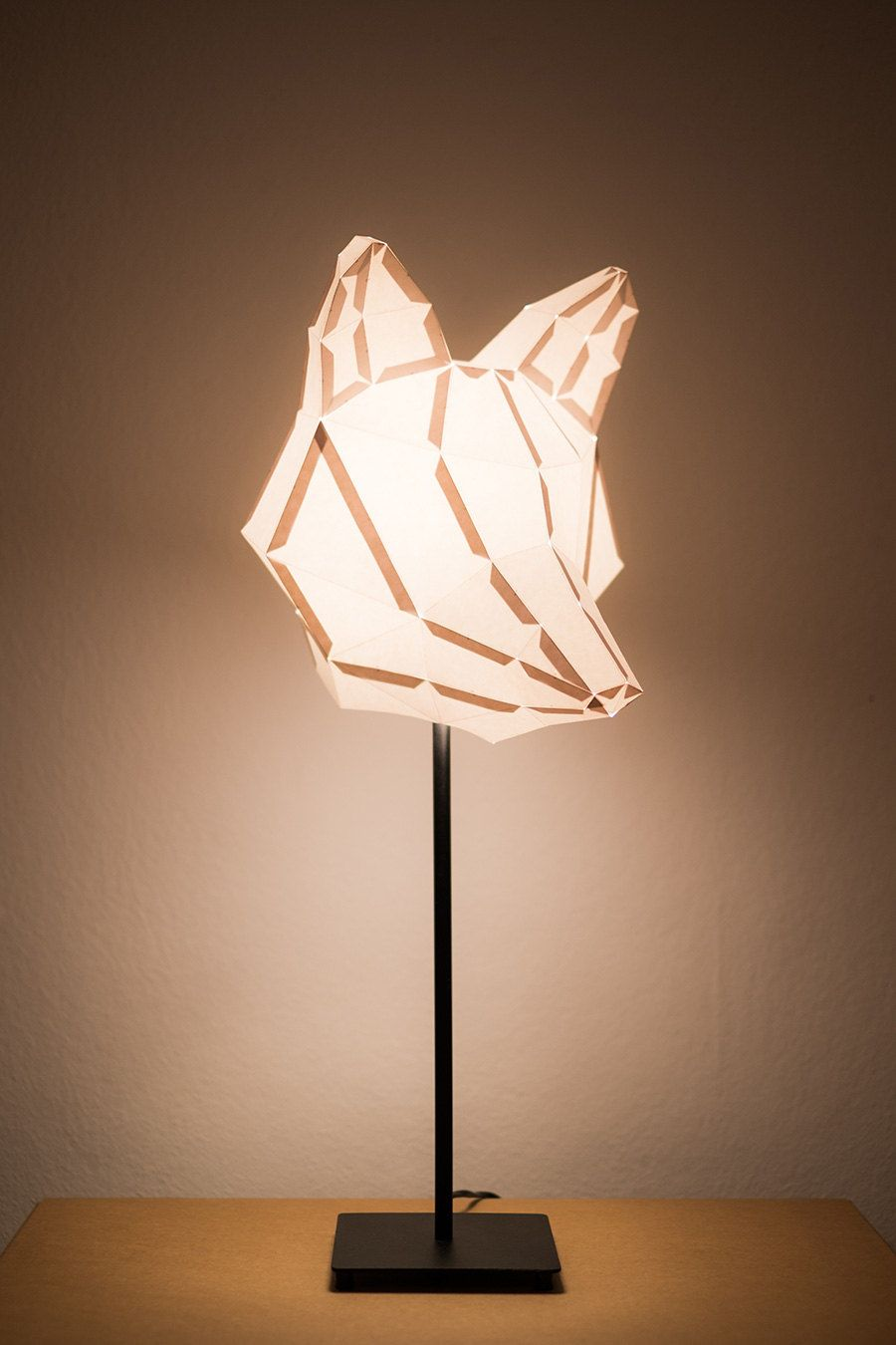 Fox medium do it yourself paper lamp shade paper lampshade mostlikely diy lampshades maik perfahl and wolfgang list fox head lampshade solutioingenieria Choice Image