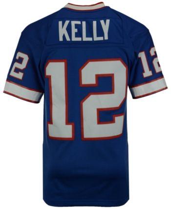 a5814e965 Mitchell   Ness Men s Jim Kelly Buffalo Bills Replica Throwback Jersey -  Blue XXL