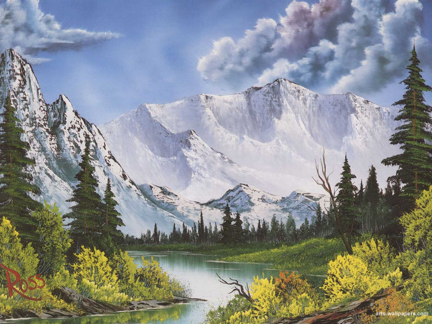 Small Selection Of Bob Ross Paintings Album On Imgur Bob Ross Paintings Bob Ross Art Bob Ross