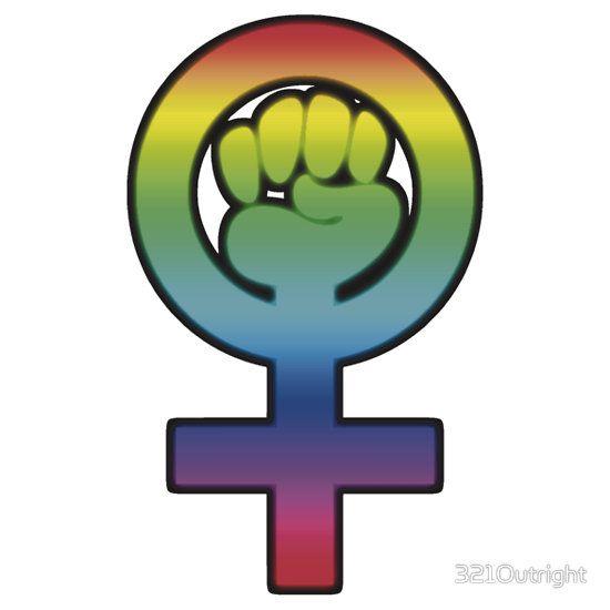 Women S Power Feminist Symbol 3 Rainbow Unisex T Shirt Swag