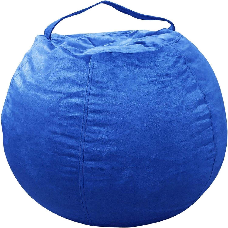 Sensational Extra Large Bean Bag Covers Only Royal Blue Jumbo 40 Machost Co Dining Chair Design Ideas Machostcouk