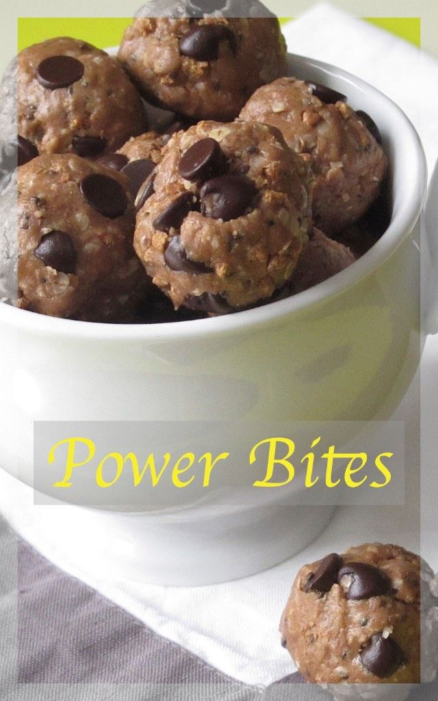 Power Bites.  These are delicious little morsels that you can eat and enjoy almost guilt free!  NO BAKE!!! Click the Pic! www.bestillandeat.com