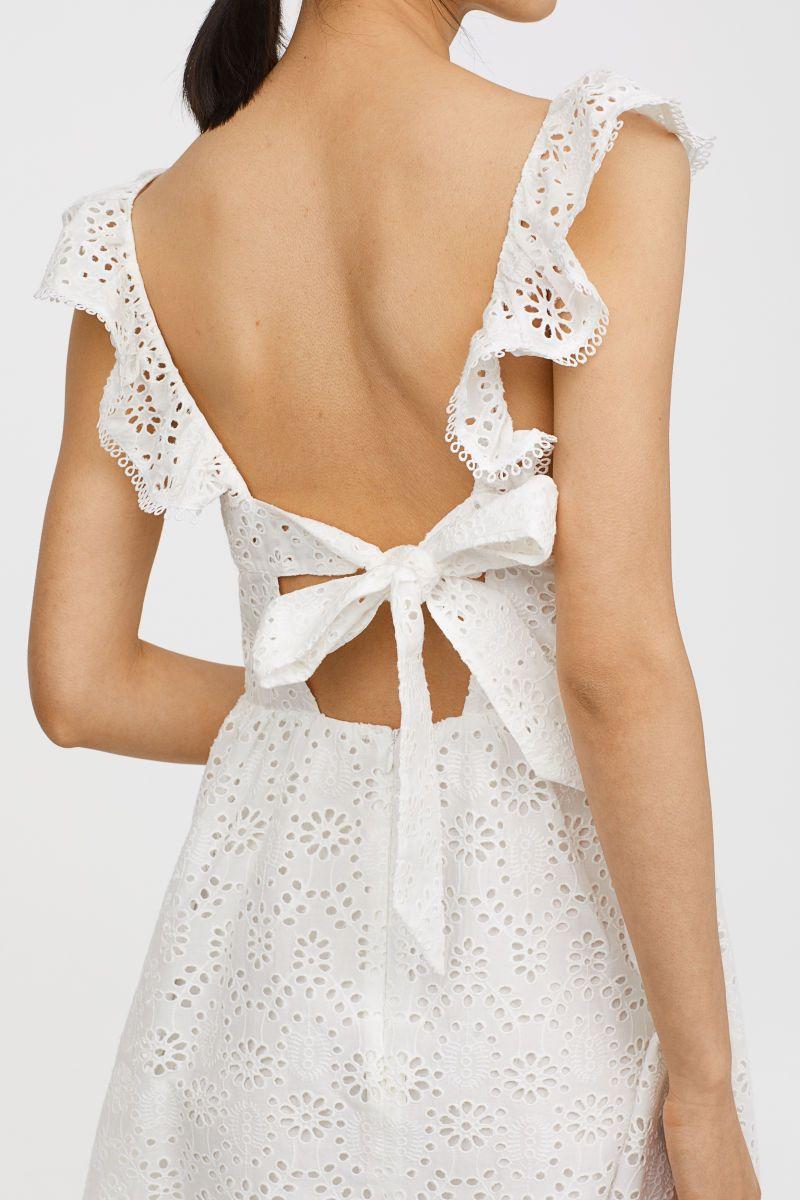 besticktes kleid | weiß | damen | h&m de | bestickte kleider