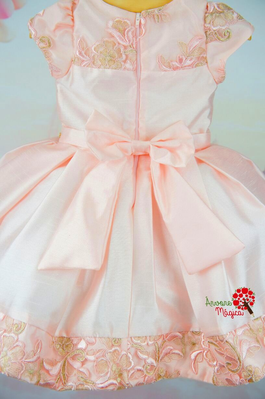 6b2288eba Vestido Infantil de Festa Rosa Realeza Petit Cherie Vestidos Com Babados  Para Meninas, Vestidos Bebê