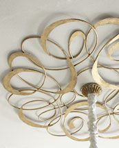 H66SN Gold Scroll Ceiling Medallion @ Horchow 275.
