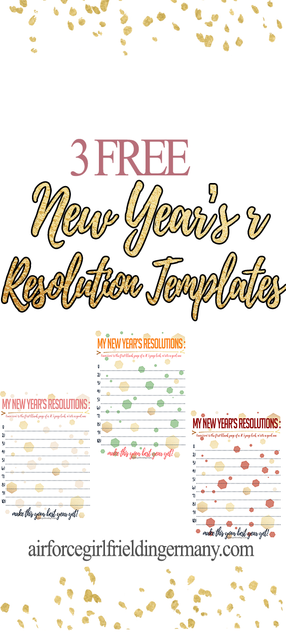 2019 New Year S Resolutions Free Printables Christmas Week New Years Resolution Free Printables Year Resolutions