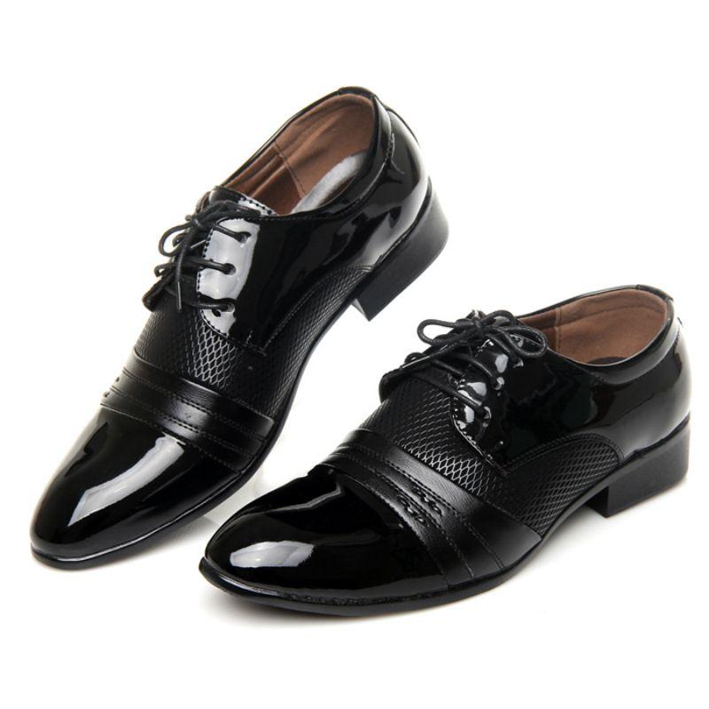 Men's Fashion Oxford Lace Up Shoes Flats Modern Design