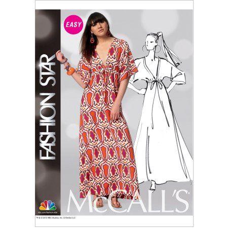 McCall\'s Pattern Misses\' Dress, Y (XS, S, M) - Walmart.com ...