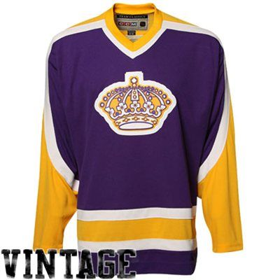 63f60f5fc4f CCM Los Angeles Kings Team Classic Premier Hockey Jersey- Purple-Gold