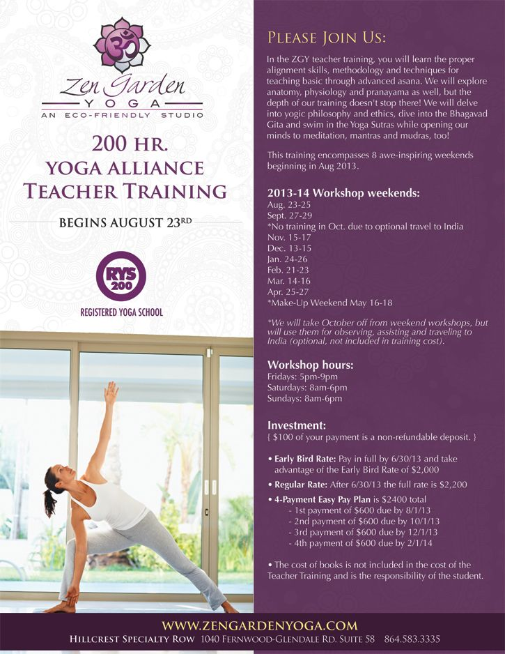 Yoga Teacher Training Flyer