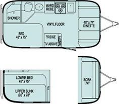 Image Result For 12 Foot Camper Floor Plans Travel Trailer Floor Plans Small Travel Trailers Vintage Travel Trailers