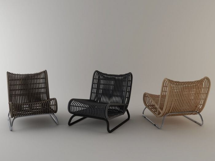 Loop Lounge Chair By Abdie Abdillah With Images Chair Rattan Lounge Chair Relaxing Chair