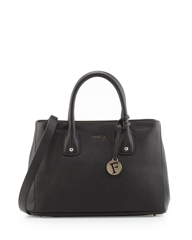 Furla Serena Leather Tote Bag, Onyx (Black), Women's